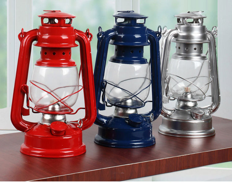 Adjustable nostalgia, wrought iron recovery old type portable camping tents kerosene lamps outdoor camping gear