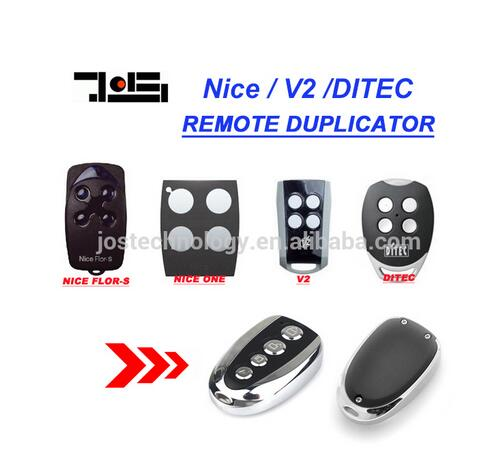 DITEC GOL4, V2 PhoenixV2 PHOX, Nice Flors, Nice One Remote control Replacement 433,92Mhz clone duplicator 2013 new version nice transmitter nice remote control smilo 2 smilo 4 nice replacement remote