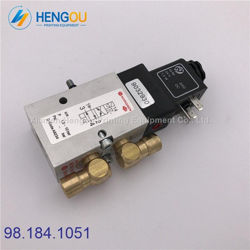 Copper Head 98.184.1051 Solenoid Valve for Heidelberg CD102 SM102 MO Machine Heidelberg valve 98.184.1051, 2625484 стоимость