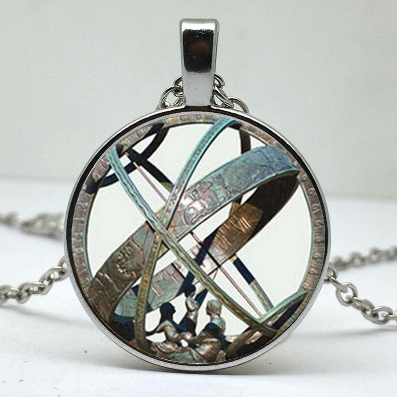 geekoplanet.com - Astronomical Sundial Globe Pendant Necklace