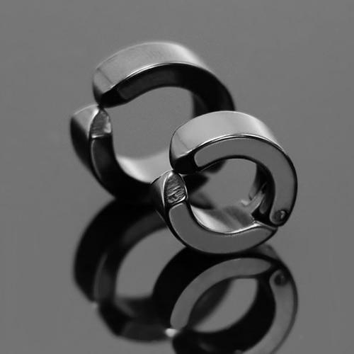 1 Pc Fashion Men Ear Clip Titanium Steel Earrings U Shaped Ear Studs Jewelry Gift