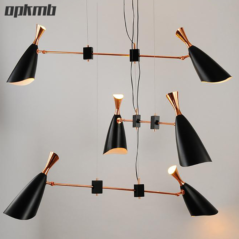 modern  led pendant light  suspension luminaire lamps Italy design for dinning room/bedroom 6 head  black+gold 2016 creative design circular frame spherical science fiction elements of led lamps pendant lamps for home dinning room holet