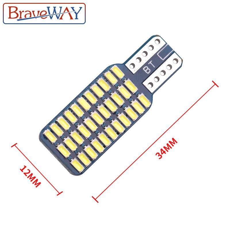 חלקי חילוף bauknecht BraveWay T10 192 194 168 W5W נורות LED 33 SMD 3014 רכב זנב אורות כיפת מנורה לבן DC 12V CANbus שגיאה חינם (5)