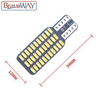 אורות כיפת מנורה לבן BraveWay T10 192 194 168 W5W נורות LED 33 SMD 3014 רכב זנב אורות כיפת מנורה לבן DC 12V CANbus שגיאה חינם (5)
