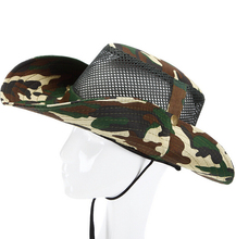 AOTU Camouflage Jungle Hiking Camping Hunting Fishing Mesh Cap Army Fans Outdoor Sunscreen Hat