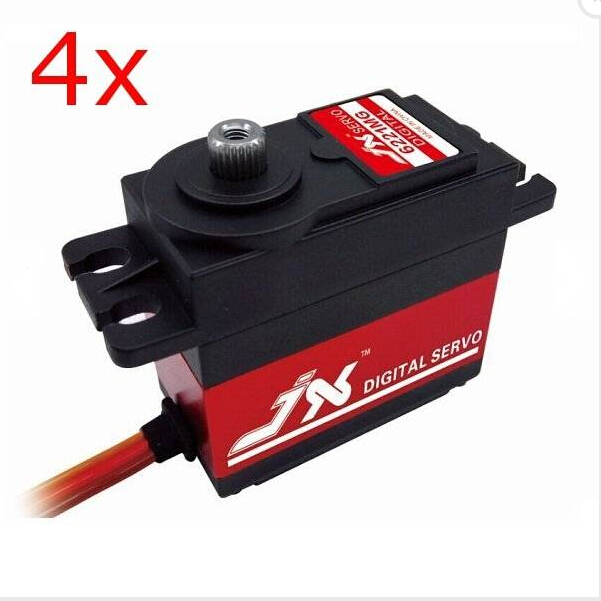4X JX PDI-6221MG 20KG Large Torque Digital Coreless Servo For RC Model superior hobby jx pdi hv5212mg high precision metal gear full cnc aluminium shell high voltage digital coreless short servo