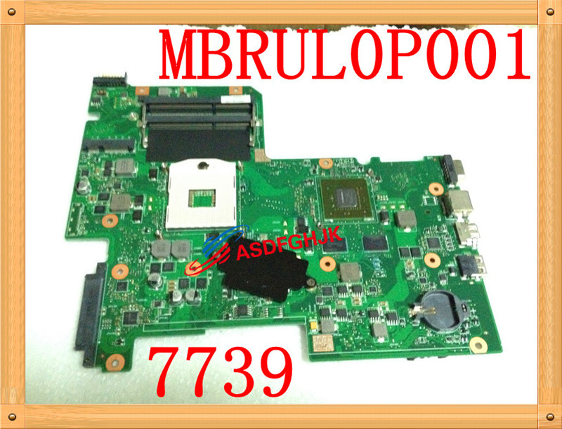 Original for ACER FOR ASPIRE 7739 SERIES NOTEBOOK MOTHERBOARD MB.RUL0P.001 MBRUL0P001 AIC70 MAINBOARD 100% work perfectly for acer aspire v3 772g notebook pc heatsink fan fit for gtx850 and gtx760m gpu 100% tested