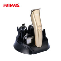 Riwa Low Noise Professional Electric Hair Trimmer Rechargeable Hair Clipper 6 Combs Hair Cutting Kits For