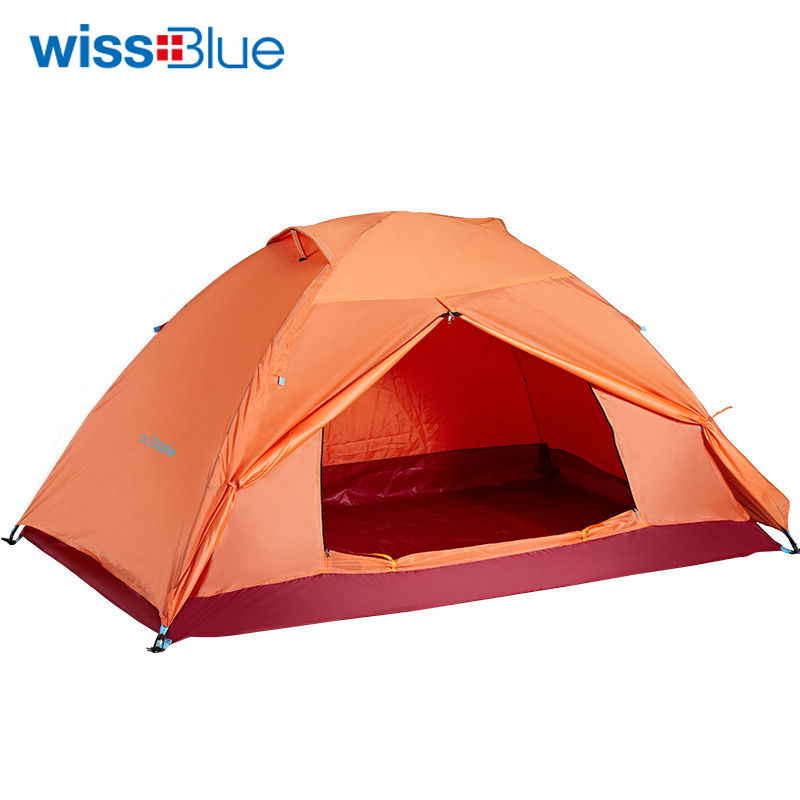 Wissblue Camping Ultralight Family Tent for Fishing Hunting Outdoor Recreation Pop Up Waterproof Tourist Portable Sunshade Tents