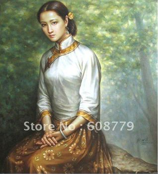 Free Shipping high quality woman ancient chinese paintings