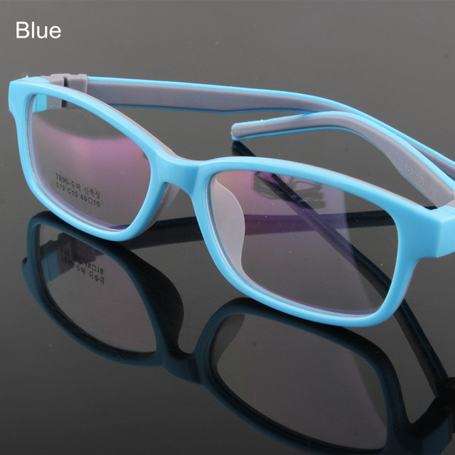Качество TR90 резиновый материал кадров дети очки дети оптических стекол кадр