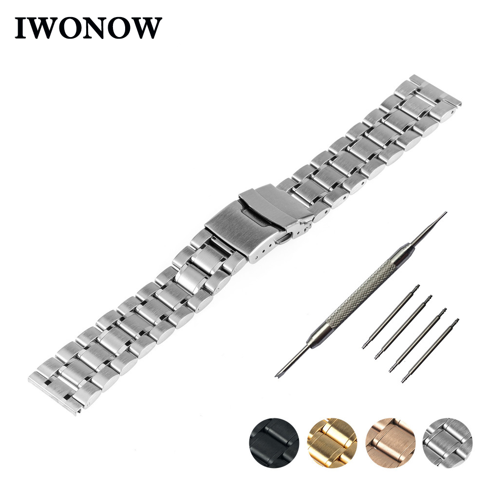 Stainless Steel Watch Band 20mm 22mm 24mm for Diesel Safety Buckle Strap Wrist Belt Bracelet Black Rose Gold Silver + Tool 18 20 22mm mesh stainless steel watch band black silver rose gold strap hook buckle men watches replacement bracelet for huiwei