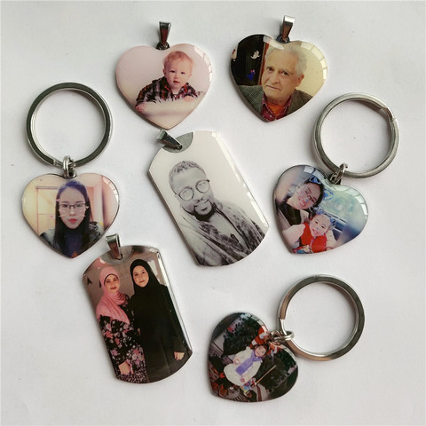 Personalized Custom Photo Text Keychain Best friends keyring Stainless Steel heart friendship lover jewelry gift for women girl Multan