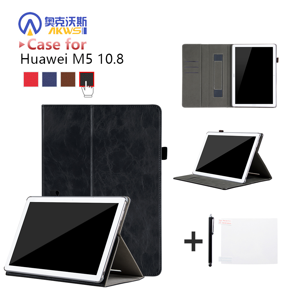 Case for Huawei Mediapad M5 10.8 Protective Case for Huawei Mediapad M5 10(PRO) CMR-AL09/CMR-W09 with Hand Holder Card Slot+Gift silicone with bracket flat case for huawei mediapad m5 8 4 inch