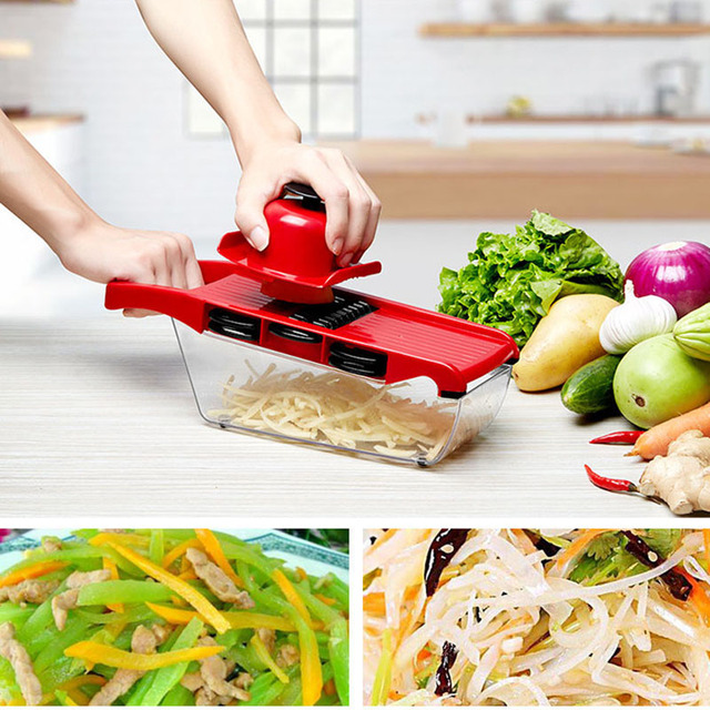 6 in 1 Vegetable Chopper Multi-Functional Grater Vegetable Cutter Sets Food Container Shredders Slicers Kitchen Accessories 1