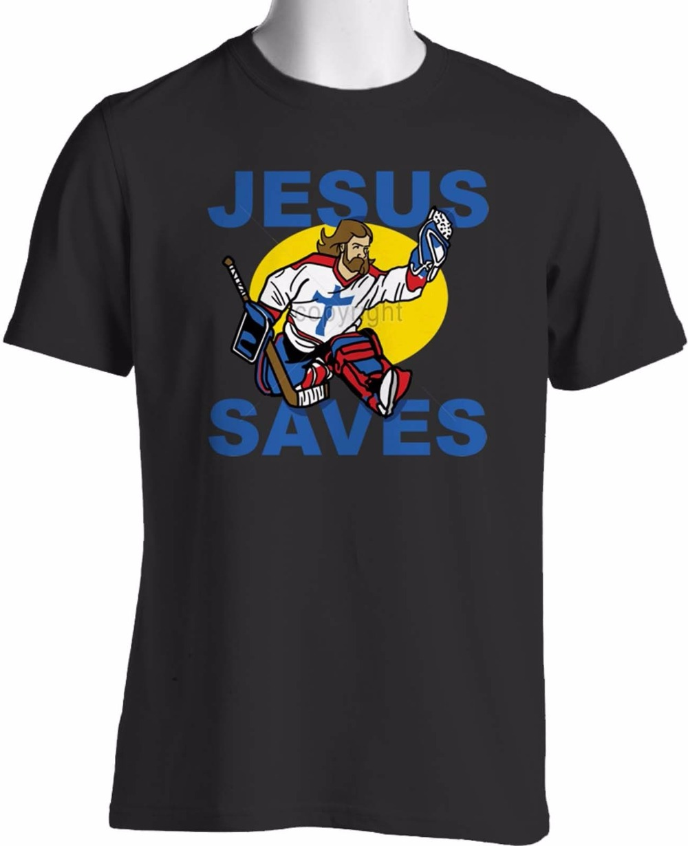 Joke T Shirts Crew Neck Short Jesus Saves T Shirt Praise God Player Funny Religious S To 3XL Office Mens Tee