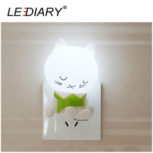 LEDIARY US/EU Plug Novelty LED Cat Night Light Light Sensing Control Light Romantic Light Christmas/Valentine/Wedding Gift