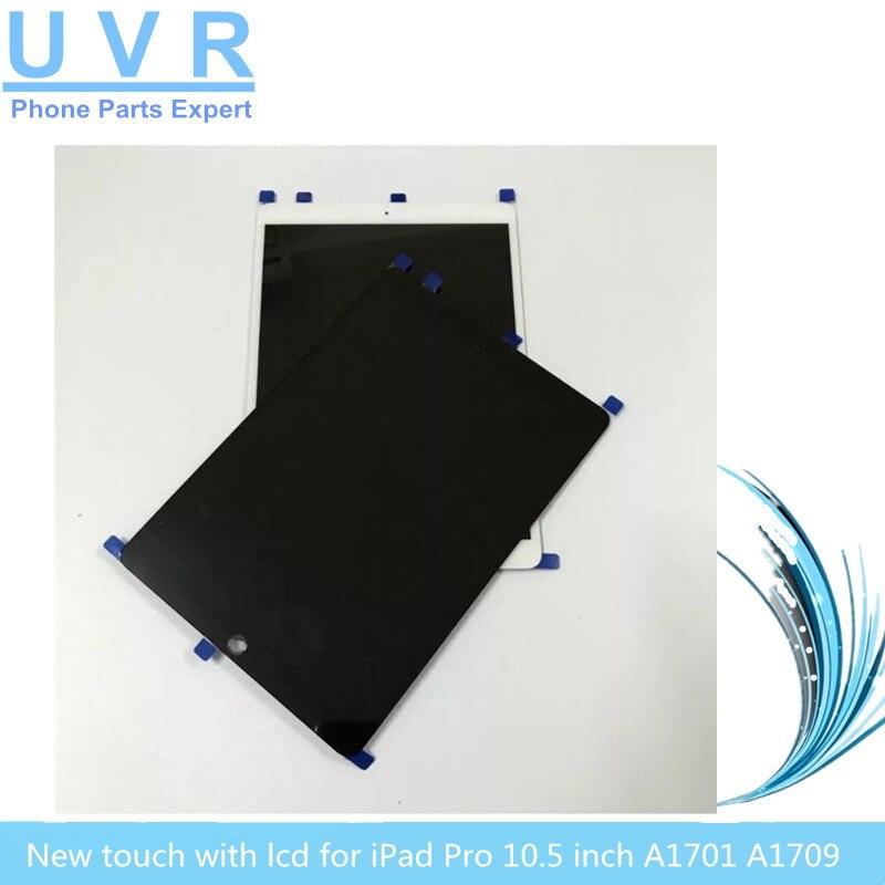 Nouvel écran tactile pour ipad pro 10.5 pouces écran tablette lcd panneau numériseur assemblée A1701 A1709 noir blanc