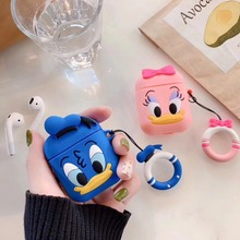 Applicable to Apple Airpods case Cartoon protection Cover Airpods Wireless Bluetooth Headset Colorful Headphone Case Lovely