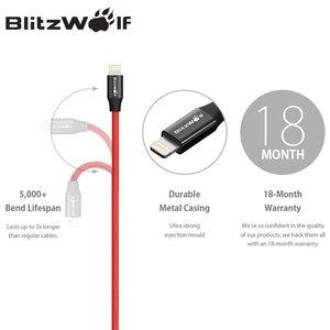 Image 4 - BlitzWolf MFI Per Cavo di Fulmine Per il iPhone 0.9m 1.8m Del Telefono Mobile del Caricatore del USB di Ricarica Cavo Dati Per iPhone 11 X Max 8 iPad