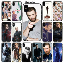 Babaite Chris Evans Coque Popular Cell Phone Case Cover for iPhone 6 6s 8 8Plus 5 5S SE 7 7plus XRX XS MAX Coque Shell(China)