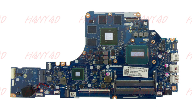 LA B111P For Lenovo Y50 70 motherboard i7 cpu Logic Board Laptop motherboard 5B20F78873 100 Tested in Laptop Motherboard from Computer Office