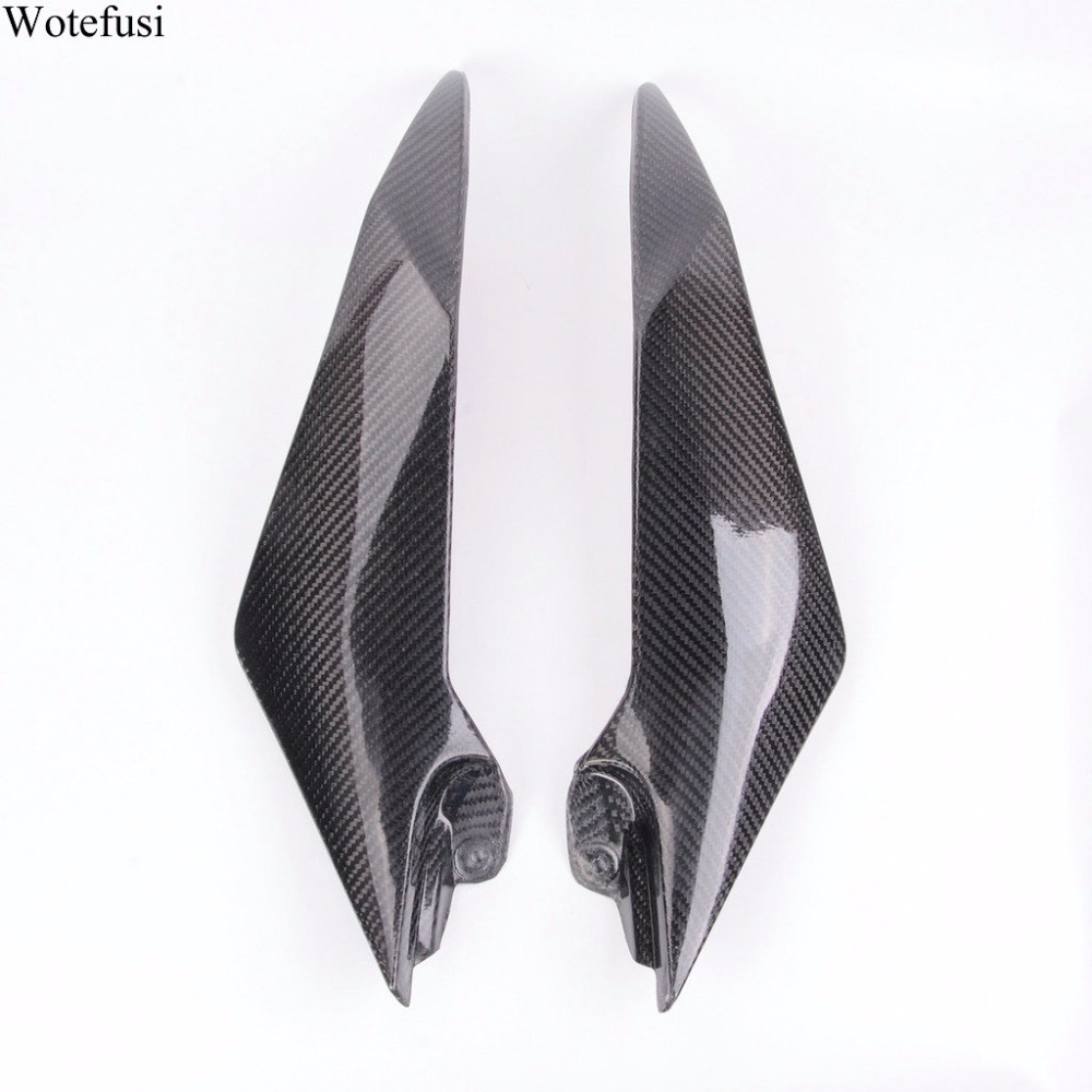 Wotefusi Carbon Fiber Tank Side Covers Panels Fairing For Yamaha YZF R6 2008 2009 2010 2011 2012 2013 2014 2015 09 10 [PA206]
