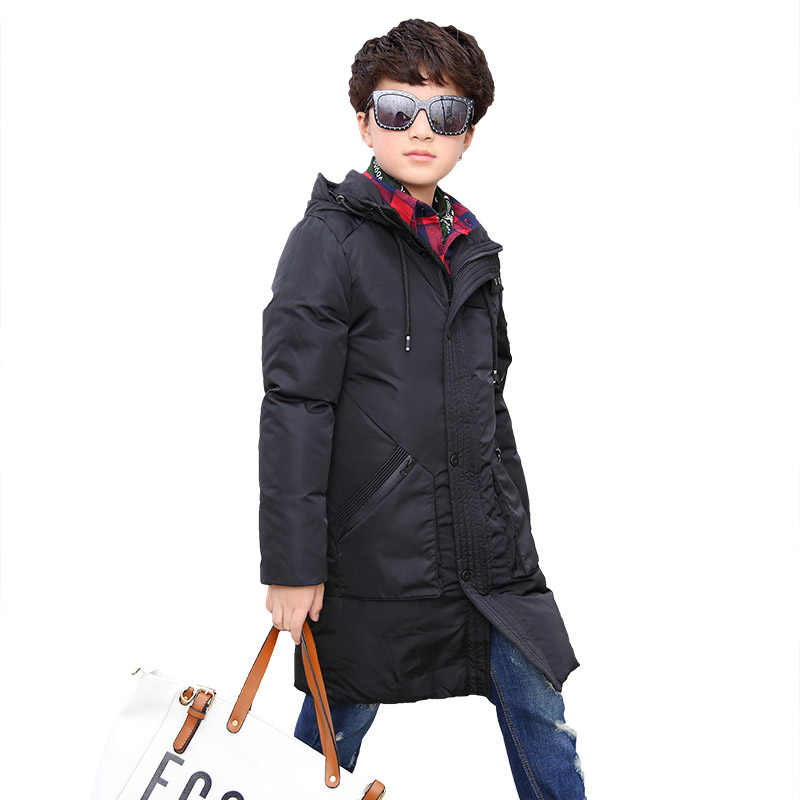 Mioigee Children's winter jackets cotton-padded children's clothing 2017 big boys warm winter down coat thickening outerwear casual 2016 winter jacket for boys warm jackets coats outerwears thick hooded down cotton jackets for children boy winter parkas