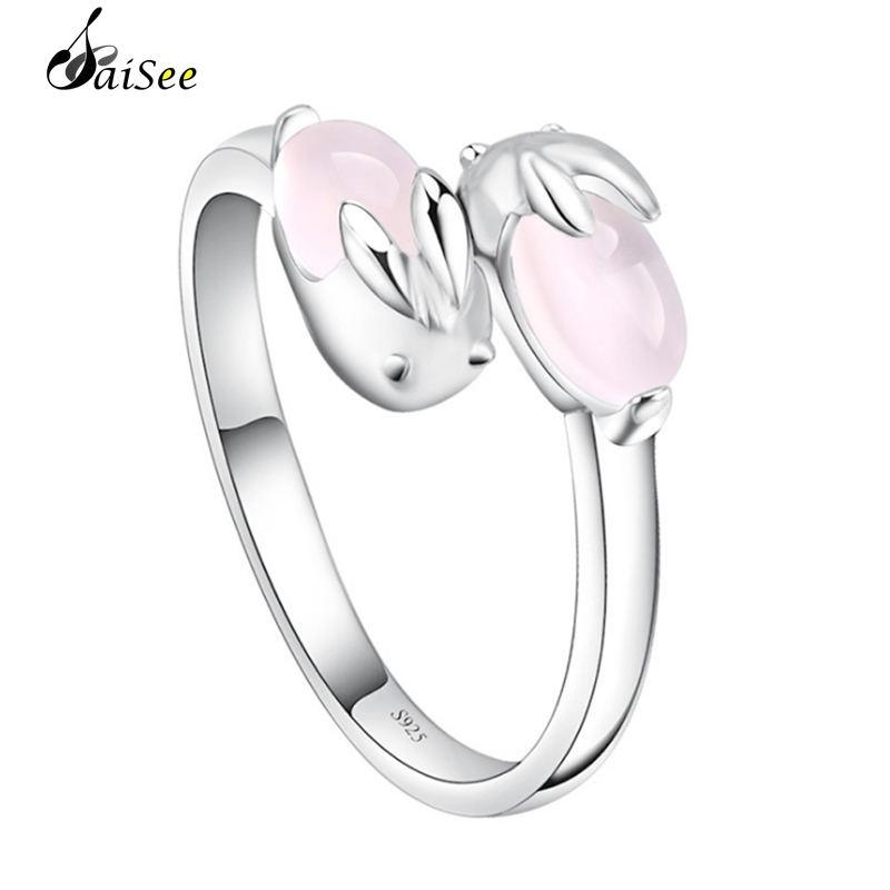 Ross Quartz Crystal Ring For Women Silver Whitegold Plated Pink