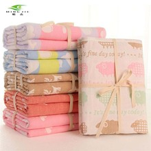 New Six Layers Muslin Cotton Baby Blankets Swaddles Newborn Wrap Gauze Sika deer Children Blankets Infant Bath Towel 110x110cm