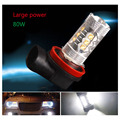 12V High Power Car Auto 80W HID Xenon White 7000K H11 LED Light bulbs for Replacement Auto Fog/Driving Light Source
