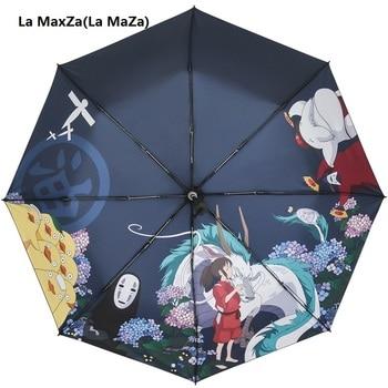 Ghibli-Paraguas Totoro para mujer, sombrilla Plegable, Paraguas, Guarda Chuva, Totoro, Parapluie