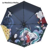 Ghibli Totoro Umbrella Sun Rain Umbrella Parasol Female Plegable Sombrillas Paraguas Guarda Chuva Totoro Parapluie