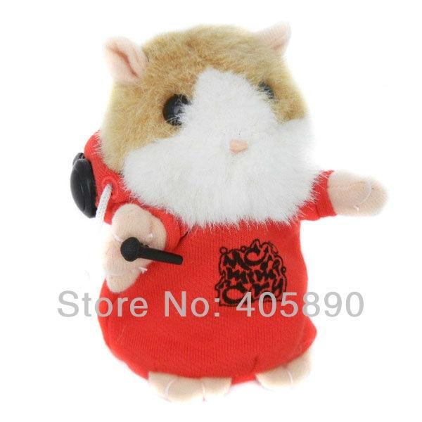 Russian Hamster MC DJ Rapper Baby Toy Repeat Speak Any Language Plush Stuffed Talking Toys
