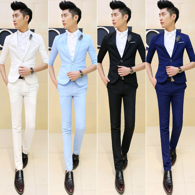 2015 New Arrival Summer Half Sleeve Teenagers Boy Mens Prom Suits ...