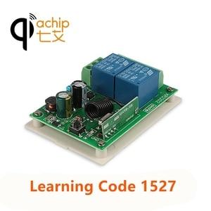 Image 2 - QIACHIP 433MHz 2CH אלחוטי שלט רחוק מתג AC 110V 220V ממסר מקלט עבור עבור שער חשמלי אור מנורת רכב מוסך דלת