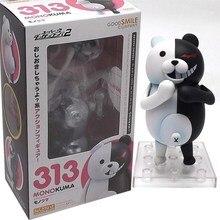 10cm Kawaii Danganronpa Monokuma Action Figures  Cartoon Bear Nendoroid Dolls PVC Anime Model Collection Toy for Kids gsc nendoroid 461 hinata shoyo no 10 haikyuu volleyball figures pvc action figure collection model toy 10cm 4
