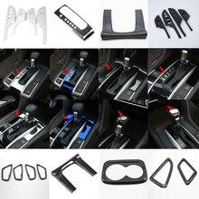 Новая Автомобильная дверная ручка подлокотник/воздушная розетка/Центральная консоль Шестерня панель/чашка воды рамка для Honda Civic 10th седан хэтчбек 16-17 LHD