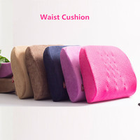 Memory Foam Adjustable Lumbar Support Car Seat Cushion Back Massage Pillows Travel Airplane Office Chair Waist