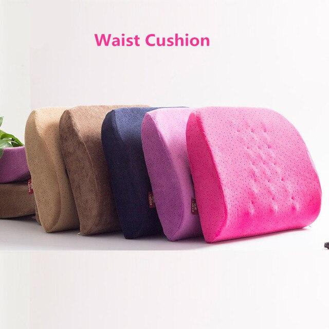 Memory Foam Pillow Adjustable Lumbar Support Car Seat Back Massage Pillows  Travel Airplane Office Chair Waist