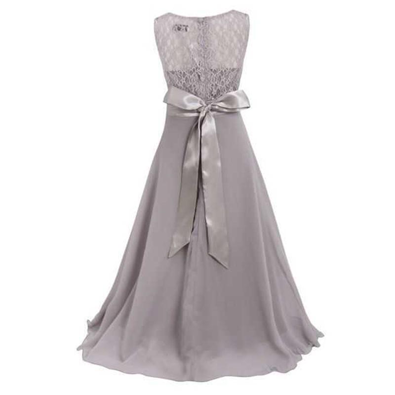 Summer Girls Dress Chiffon Sleeveless Infant Long Dress O Neck Girl Wedding Dresses Lace Kids Party Clothes Children Clothing (21)
