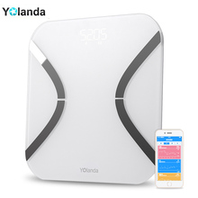 Original White Mini Smart Yolanda Scales Household Premium Support Bluetooth APP Fat Percentage Digital Body Fat Weighing Scale