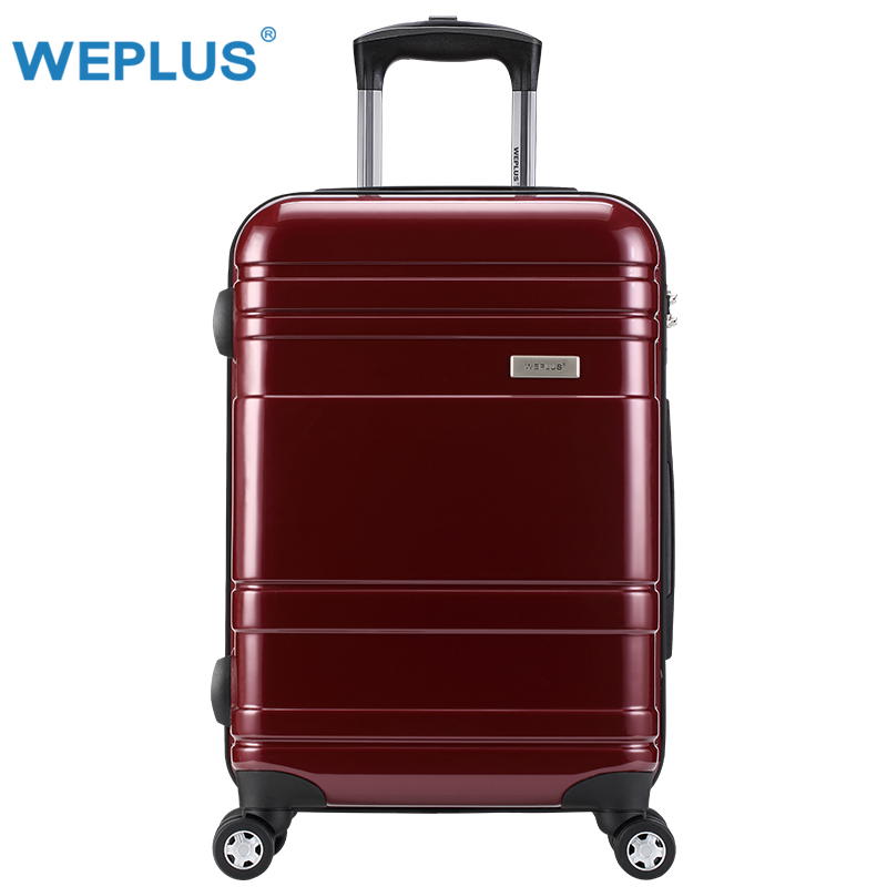 24 inch 24'' Luggage case for women ravel Trolley Rolling Hardside Luggage Suitcase red  On Wheels  Brand Boarding Case bag abs