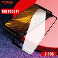 Pocophone F1 poco f1 vidro temperado film vidro para Xiaomi MOFI para Xiaomi Pocophone F1 Cobertura Completa protetor de tela de vidro 2 pcs