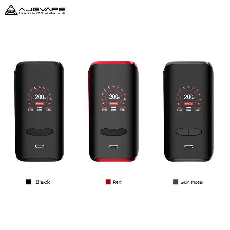Augvape VX200 200 W TC boîte Mod Vape Mod boîte par double 18650 batterie 1.3 pouces affichage Vape vaporisateur VS Voopoo glisser 2 Vape Mod
