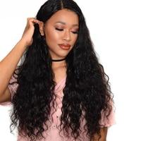 Предварительно сорвал Full Lace натуральные волосы парики с ребенком волос 180% Плотность свободные волна бесклеевого парики для Для женщин Remy