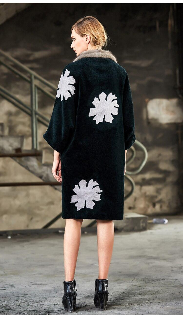 Véritable Outwear Moutons As Yolanfairy Vestes Presented Automne Fourrure Femmes Color Des Fleur Vison Col Mf318 Top Cheveux Hiver Qulity Tonte Manteau De dSxTqgS