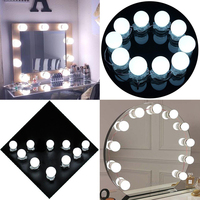 Makeup Mirror Vanity LED Light Bulbs Kit Wall Lamp ForDressing Table With Dimmer And Power Supply
