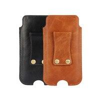 牛革牛本革ポーチケースベルトホルスターカバークリップフリップ用iphone 7/iphone用8高級財布電話バッグケース