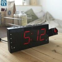 Creative Bedroom Projection Alarm Clock Radio Clock Radio Clock Bedside LED Electronic Mute Clock